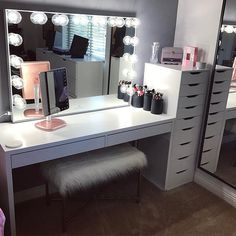 Makeup studio room ideas makeup studio decor ideas beauty room in home decorators collection blinds warranty . Ikea 9 Drawer, Drawer Unit, Drawer Dividers, Ikea Alex Drawers, Decor Room, Bedroom Decor, Home Decor, Bedroom Ideas, Bedroom Modern
