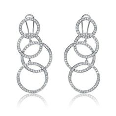 Collette Z Sterling-Silver and Cubic Zirconia Dangle Earrings with Omega Clasp overstock.com 59.49