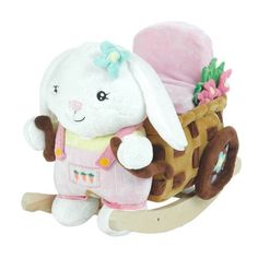 Musical Beatrice the Bunny Toy Rocker by Baby Gifts N Treasures.com
