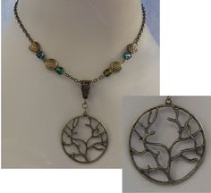 Burnished Gold Celtic Knot Tree of Life Pendant Necklace Jewelry Handmade #Handmade http://www.ebay.com/itm/Burnished-Gold-Celtic-Knot-Tree-of-Life-Pendant-Necklace-Jewelry-Handmade-/161516580322?