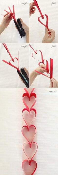 Easy And Cute Heart Garland - Perfect For Valentines Day Dinner