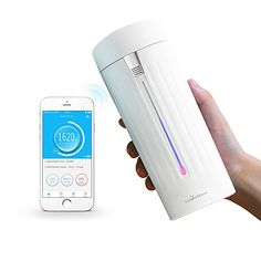 SmartShow Smart Cup S1  Hydration Tracker  Water Quality  Level  Temperature Detection  Drink Reminder  Free IOS App -- Want additional info? Click on the image.