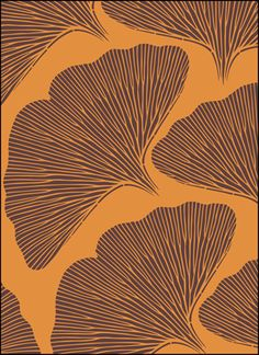 THE STENCIL LIBRARY - VN147 - Ginko Leaves stencil design.
