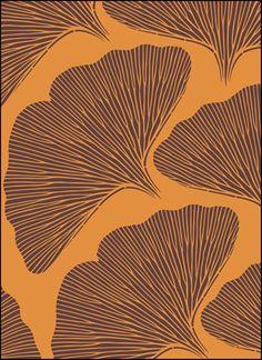 THE STENCIL LIBRARY -  VN147 - Ginko Leaves stencil design.