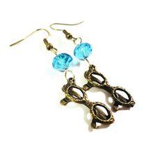 Bronze Sunglasses Earrings Sunglass Charm by BusyBeeBeadedJewelry, $4.95