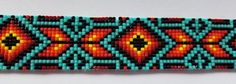 native american beadwork patters Loom Beaded Native American Themed Bracelet Handmade Beadwoven Bracelet Beaded Bracelets for Women is part of Useful crafts For Women - 4 This bracelet is adjustable and will fit from a 6 wrist to a 9 wrist Native Beading Patterns, Native Beadwork, Native American Beadwork, Loom Bracelet Patterns, Bead Loom Bracelets, Bead Loom Patterns, Bracelet Designs, Beaded Hat Bands, Bead Loom Designs