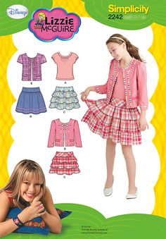 Purchase Simplicity 2242 Girl's Sportswear and read its pattern reviews. Find other Tops, Kids(boys & girls), Skirts,  sewing patterns.