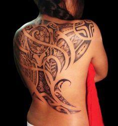 Polynesian back tattoo. absolutely stunning!