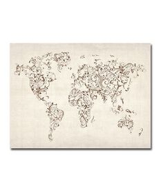This printable world map with all continents is left blank ideal take a look at this swirls world map gallery wrapped canvas by michael tompsett on gumiabroncs Choice Image