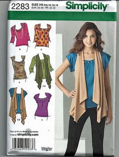 c651b4f163 Misses  Knit Tops and Vest   Original Simplicity Sewing Pattern 2283
