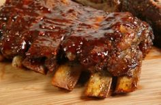 Notice how they are pulling away from the bone. This is how you want your barbecue ribs to look like. Incidentally these will make you drool. Just a warning there.