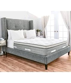 Sleep peacefully in the incredibly comfortable and beautiful Sequoia Mattress by Brentwood Home. Handmade in the US from natural and non-toxic materials to ensure your rest and your health are protected. A layer of all natural latex offers uplifting support that provides a feeling of weightlessness.