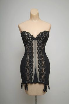 Vintage 50s Gossard Corset / All in one by VintageBoxFashions, $529.00
