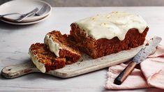 Carrot cake loaf recipe - BBC Food Ginger Loaf Cake, Carrot Cake Loaf, Easy Carrot Cake, Carrot Cakes, Carrot Cake Recipe Bbc, Cake Recipes Uk, Bbc Good Food Recipes, Baking Recipes, Vegan Recipes