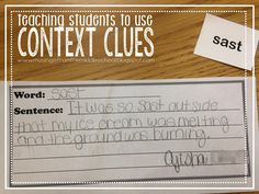 Musings from the Middle School: Such a great idea to teach about using Context Clues