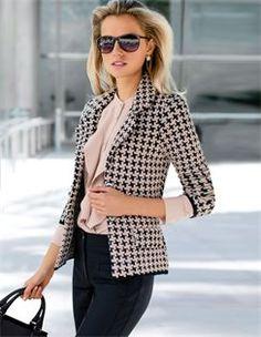 Knitted blazer, Sunglasses