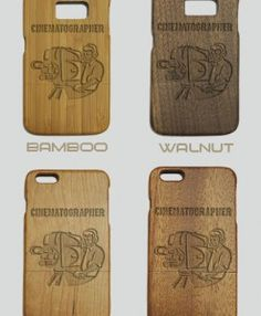 http://woodcases.co/product/cinematographer-engraved-wood-phone-case/