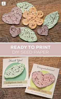 Learn how to make garden seed bombs with paper with this DIY seed ball tutorial. These flower seed bombs are a great activity for kids! Nature Crafts, Fun Crafts, Crafts For Kids, Neli Quilling, Homemade Gifts, Diy Gifts, Diy Natal, Diy Recycling, Seed Bombs
