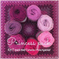 Catania Princess pack - i rosa färgskala Catania, Raspberry, Ribbon, Packing, Pink, Princess, Chrochet, Fabrics, Threading