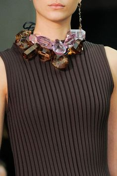 Crystals necklace - Céline Fall 2014 (I hope some of those crystsls are plastic - if not, this would be painful to wear)