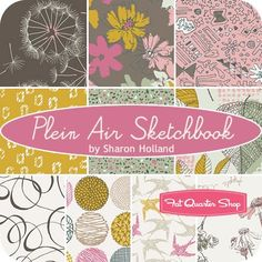 Plein Air Sketchbook Fat Quarter BundleSharon Holland for Art Gallery Fabrics - Fat Quarter Bundles | Fat Quarter Shop