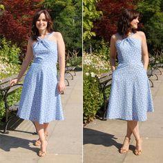 Vintage Blue Lonsdale Dress | Kollabora #sewing #kollabora