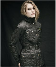 Womens Barbour Heritage Wash International Quilted Jacket. Barbour's iconic International in Barbour's signature polarquilt is given the originals treatment in a washed pigment dyed fabric.