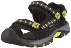 Kamik Boys' Jetty (Toddler-Youth) - 2 Youth M - Lime Kamik. $23.99. rubber sole. Cushioned brushed EVA footbed. synthetic. Moisture-wicking lining. Adjustable hook and loop straps at instep, forefoot and heel. Waterproof synthetic leather upper with nylon webbing overlays and abrasion-resistant toe guard. Water adventures await in this sturdy sandal. Save 40%!