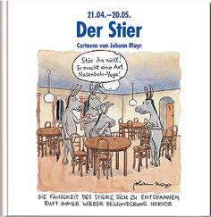 #Stier #Sternzeichenbuch mit lustigen Cartoons und Texten