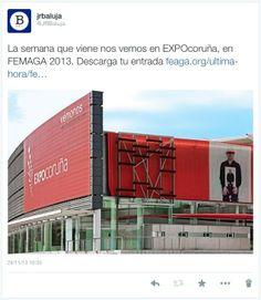 Nos vemos en FEMAGA 2013, en ExpoCoruña, del 4 al 8 de Diciembre. Descarga tu entrada en este enlace para entrar de forma gratuita: http://feaga.org/ultima-hora/feria-de-muestras-de-a-coruna-femaga-2010/gmx-niv84-con162.htm