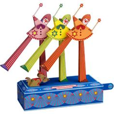 Papercraft del Circo. Baile de Payasos en Zancos / Clowns on stilts line dance. Manualidades a Raudales.