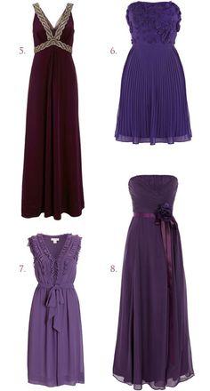 10 Shades of Purple Bridesmaid Dresses