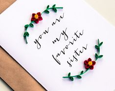 Rakhi Card Raksha Bandhan Card Card for Bhai by ofthingspretty