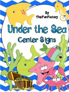 Under the Sea Themed Center Signs and Center Management Ch
