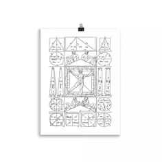 Lámina Hombre de Vitruvio | Cosa Bonita | Láminas para cuadros Coding, Art, Geometric Fashion, Villa Design, Human Figures, Men, Art Background, Kunst, Performing Arts