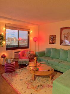 Room Ideas Bedroom, Bedroom Decor, Indie Room, Indie Living Room, Living Room And Bedroom In One, Retro Living Rooms, Living Room Goals, Pretty Room, Aesthetic Room Decor