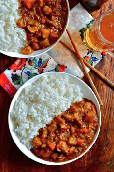 Curry al pollo (Japanese Food) Think Food, I Love Food, Good Food, Yummy Food, Tasty, Asian Recipes, Healthy Recipes, Japanese Food Recipes, Japanese Meals