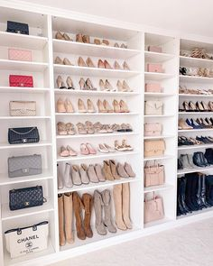 Walk In Wardrobe, Wardrobe Design, Walk In Closet, Photo Polaroid, Master Bedroom Closet, Replica Handbags, Designer Handbags, Designer Belts, Dream Closets