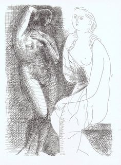 PABLO PICASSO LITHOGRAPH NUDE VOLLARD SUITE 1956 CONSERVATION MOUNTED # 6