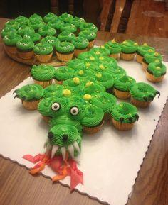 Green Dragon Cake by Shelly, Dragon Birthday Cakes, Dragon Birthday Parties, Dragon Party, Birthday Ideas, Birthday Fun, Dragons Cake, Dragon Cupcakes, Dragons Love Tacos, Camo Wedding Cakes