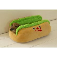 It's a hot dog bun bed! https://www.facebook.com/photo.php?fbid=545609998860833&set=a.156655384422965.40818.155275957894241&type=1&theater