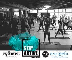 Κυριακή 4 Μαρτίου 2018 στο WE!  Η Stay Strong διοργανώνει το μεγαλύτερο fitness event της Θεσσαλονίκης Fitness classes Kids' activities and happenings Dance shows  Latin Party
