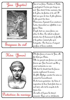 Cartes des dieux grecs Cycle 3, Montessori Education, Gods And Goddesses, Greek Mythology, Ancient Greece, To My Daughter, Homeschool, Culture, History