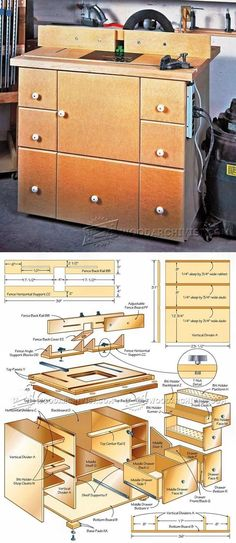 Router Table Cabinet Plans - Router Tips, Jigs and Fixtures | WoodArchivist.com