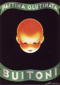 Italian artist, Federico Seneca advertisement poster for Buitoni children's pasta. Vintage Advertising Posters, Vintage Advertisements, Vintage Ads, Vintage Posters, Vintage Food, Diesel Punk, Science Fiction Art, Science Books, Modern Graphic Design