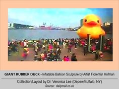 GIANT RUBBER DUCK (LWH=82'x59'x59') [2013].12/20-12/31 @ TAIWAN - Taipei: Keelung ---  Inflatable balloon Sculpture floating around the world to spread Peace/Goodwill