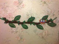 Купить Сова и дни недели - зеленый, сова, игрушка из фетра, развивающая игрушка