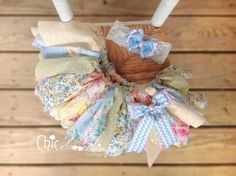 Fabric Tutu BLUE TRUFFLE Vintage Tea Party Lace by ChicSomethings, $32.00