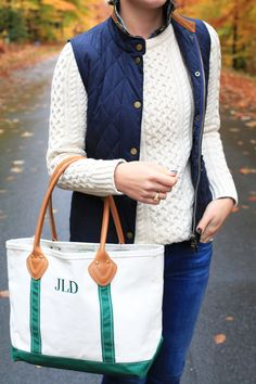 LL Bean Leather Tote