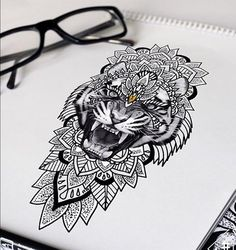 Tigers face with different mandala Mandala Tattoo – Fashion Tattoos